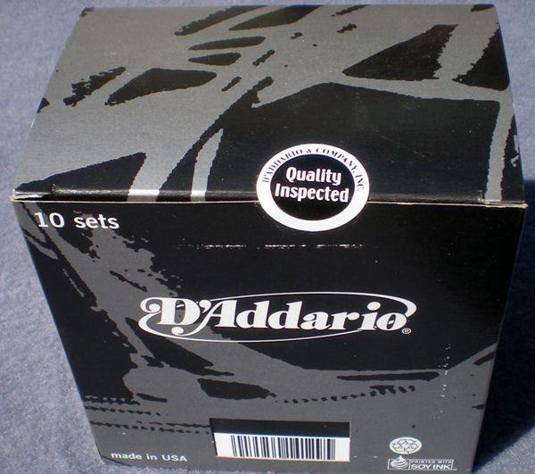 Cordas daddario $13,10 ZXL120box10seal