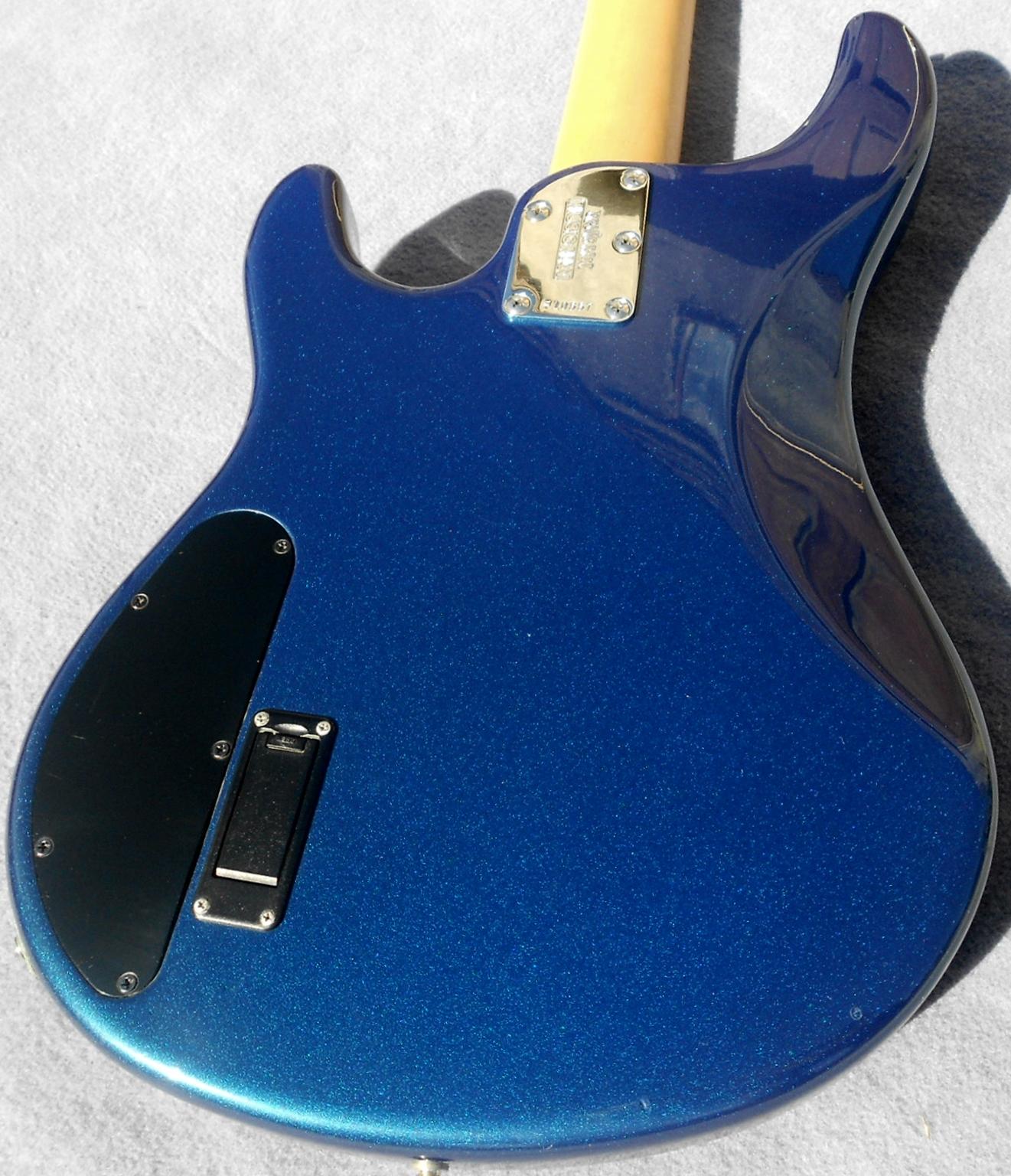 2004 Ernie Ball Musicman Sterling Bass USA Music Man Blue Pearl Maple