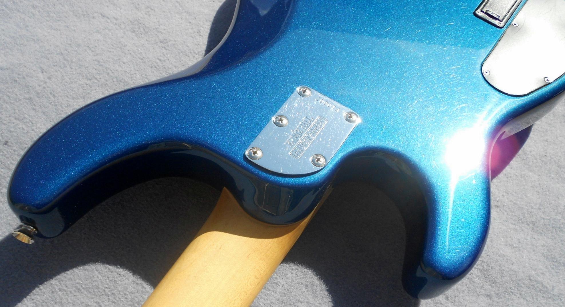 2004 Ernie Ball Musicman Sterling Bass Usa Music Man Blue Pearl